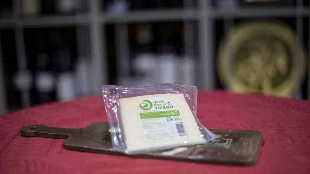 La cuña de queso tierno de Auchan, la marca blanca de Alcampo.