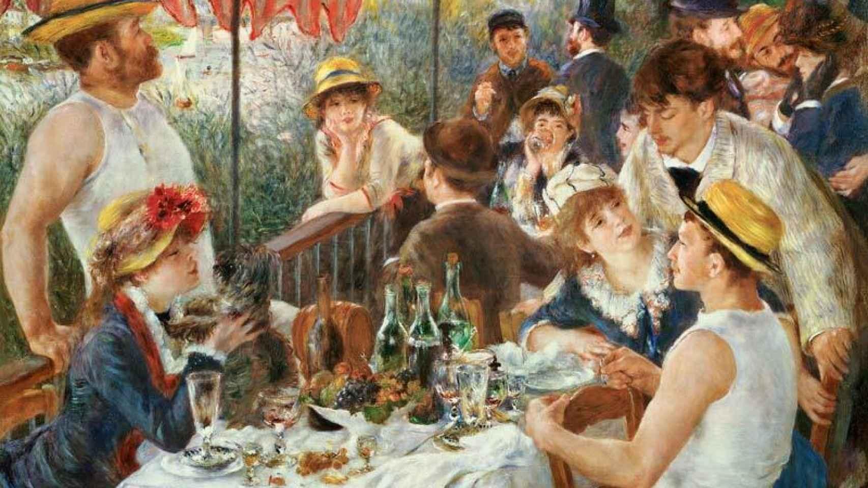 El almuerzo de los remeros. Pierre-Auguste Renoir, 1881