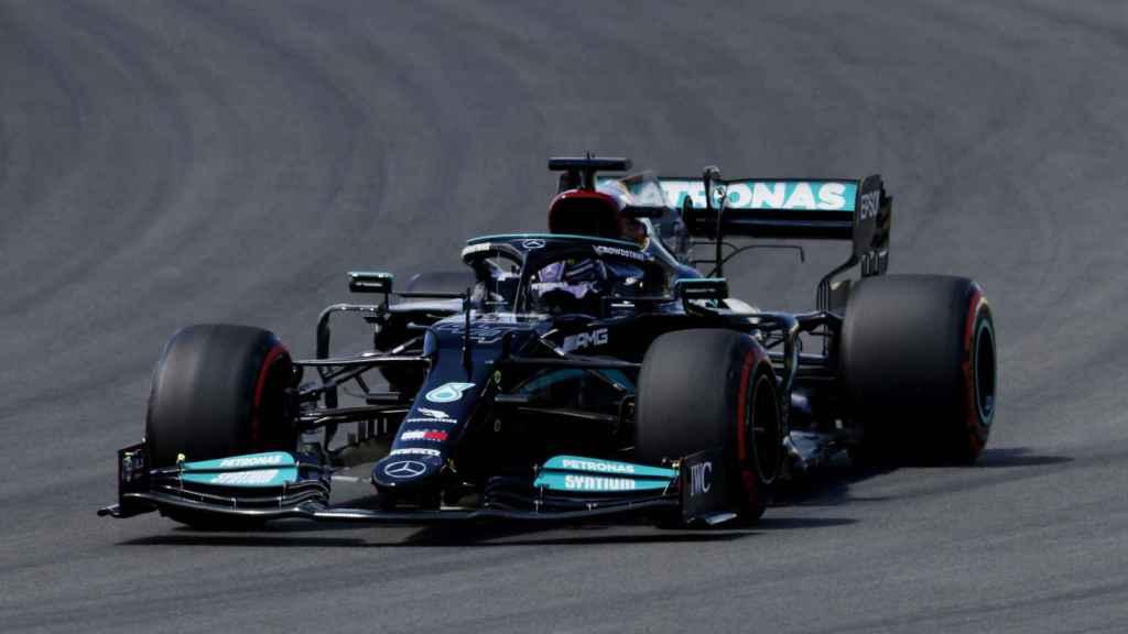 Hamilton en la clasificación del Gran Premio de Portugal