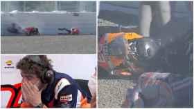 Marc Márquez sufre una caída en Jerez