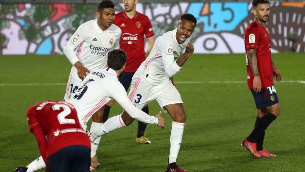 Militao celebra su gol a Osasuna