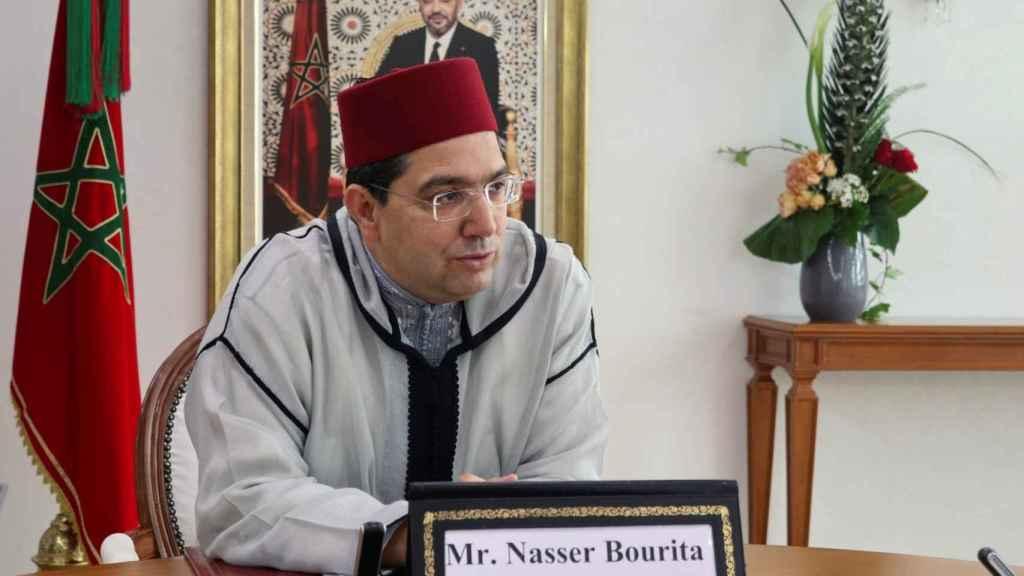 El ministro marroquí de Exteriores, Nasar Burita, durante la entrevista concedida a Efe.