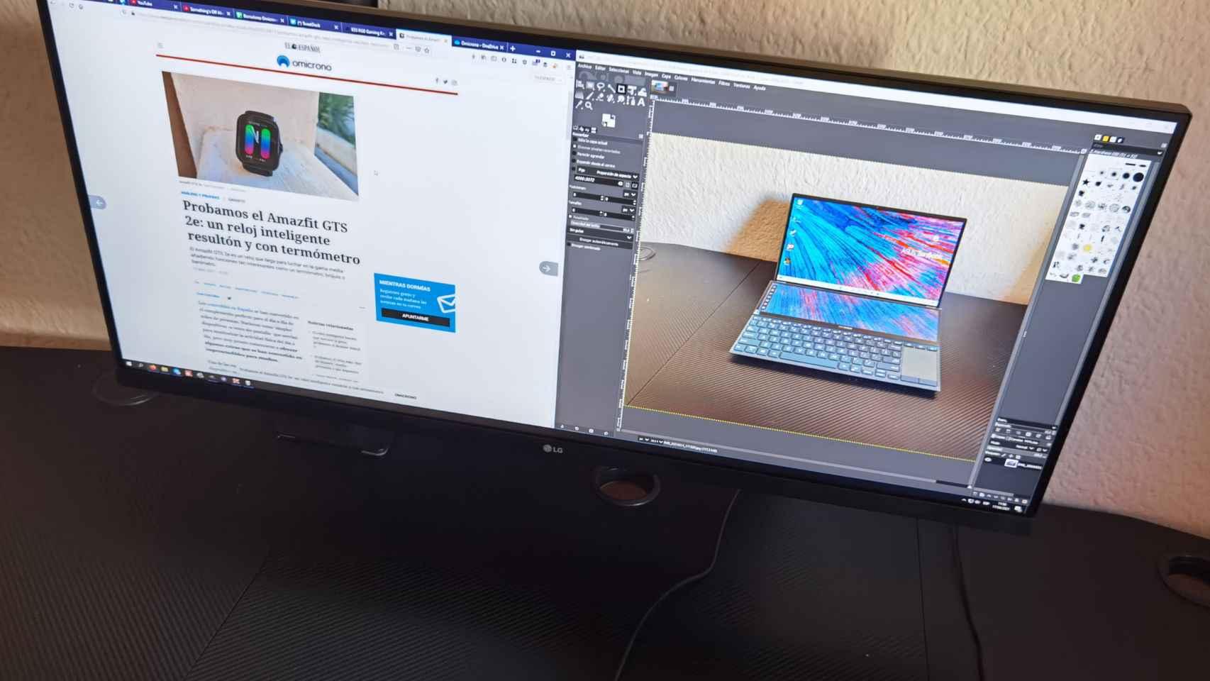 El LG Ergo 34WN780 es un monitor ultrapanorámico con una peana muy original