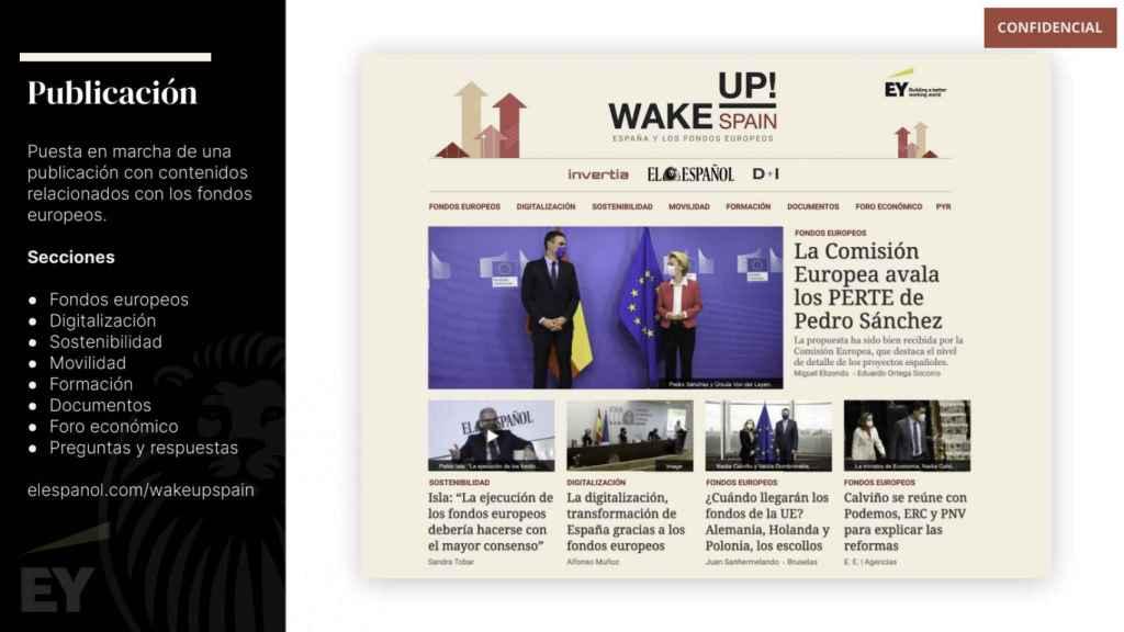 El documento interno de trabajo para el lanzamiento de la nueva publicación Wake Up, Spain!