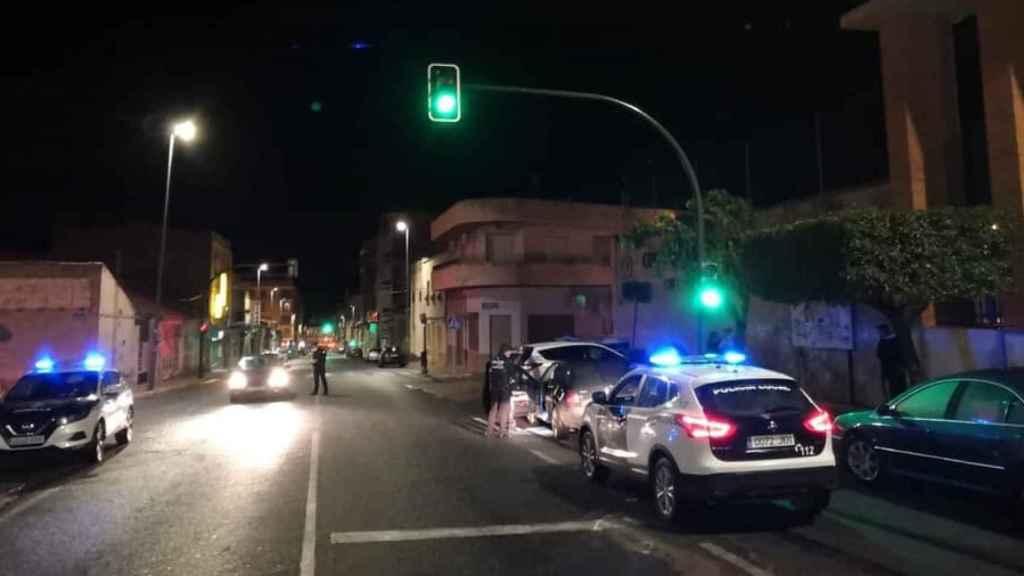 Policías locales de Jumilla en una imagen de archivo de un control.