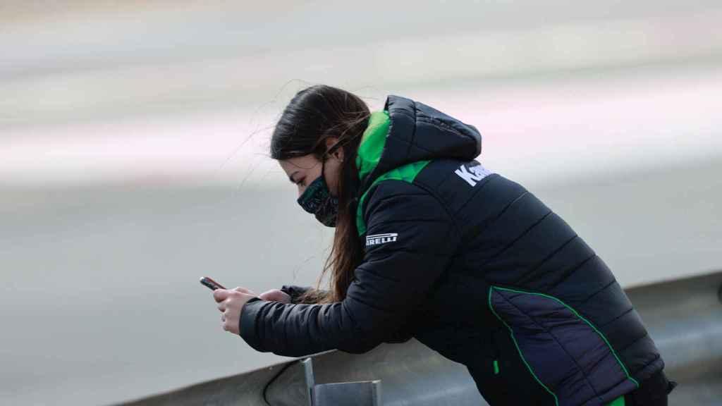 Carla durante un entrenamiento.