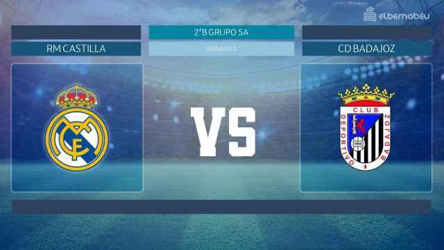 Streaming en directo | Real Madrid Castilla - Badajoz