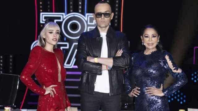 Danna Paola, Risto Mejide e Isabel Pantoja en 'Top Star'