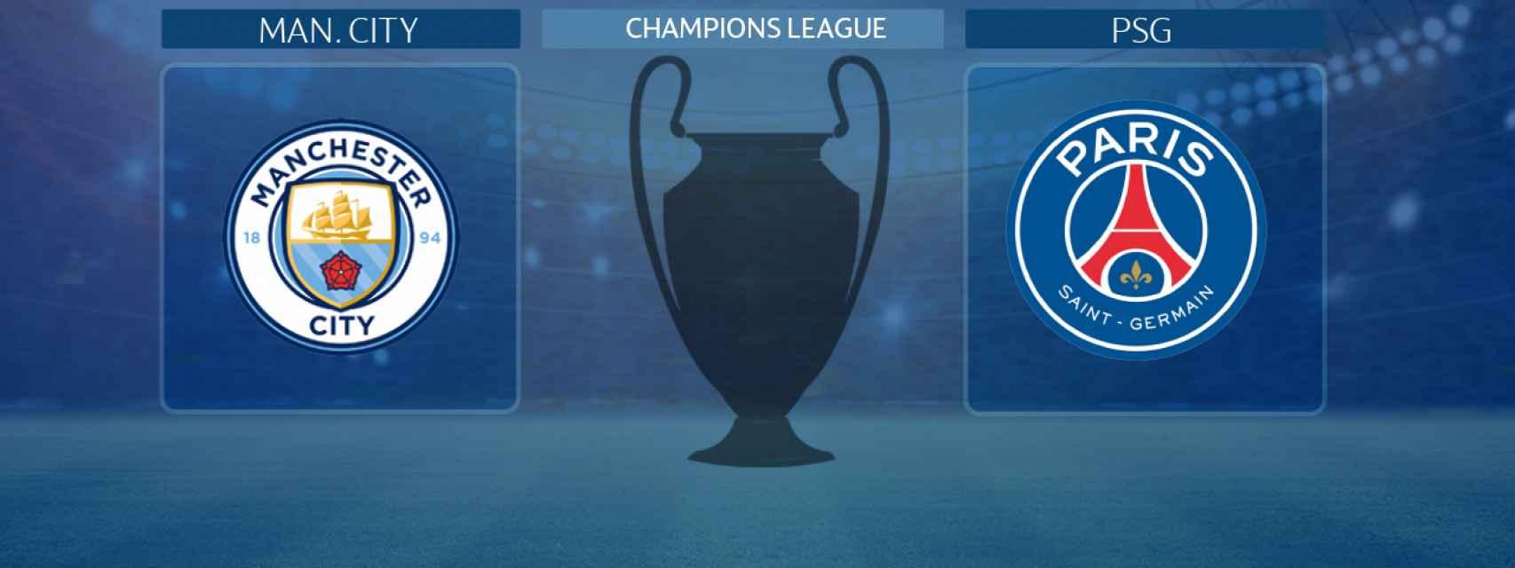 Manchester City - PSG, partido de la Champions League