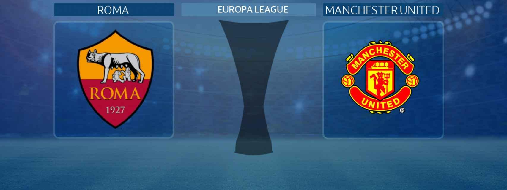 Roma - Manchester United, partido de la Europa League