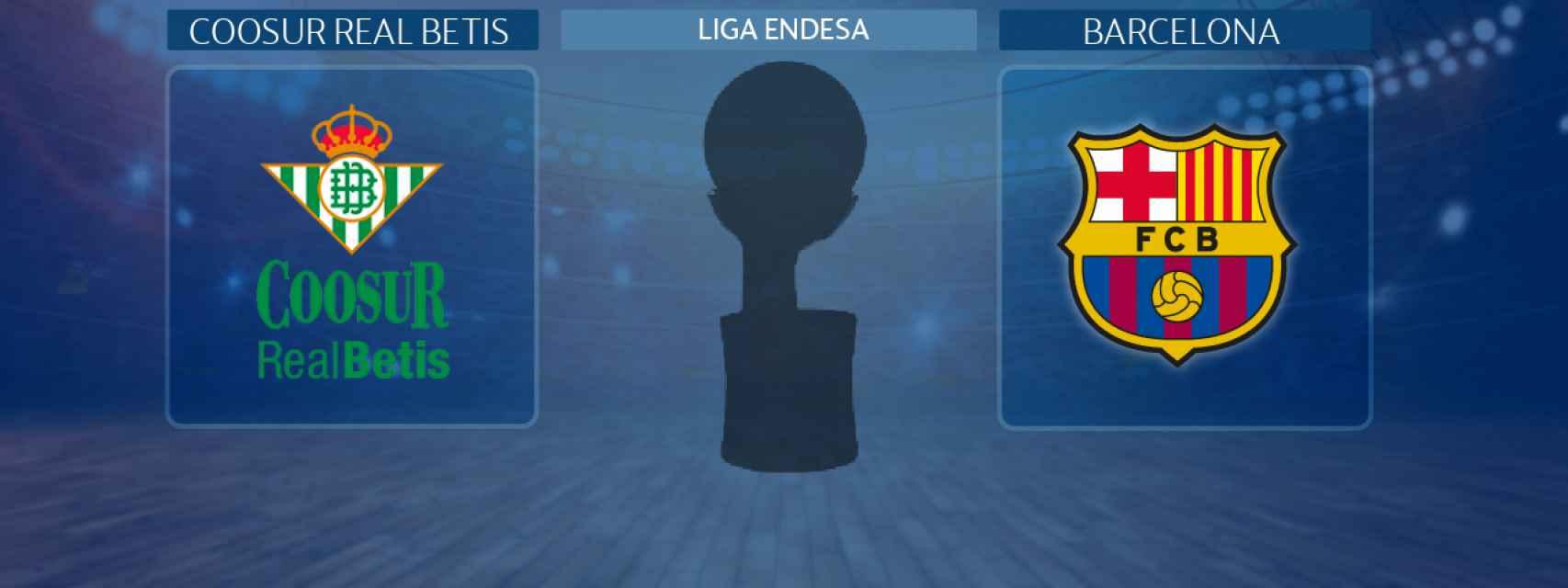 Coosur Real Betis - Barcelona, partido de la Liga Endesa