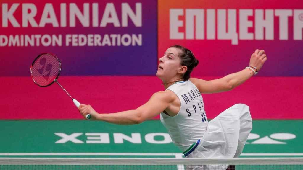 Carolina Marín, en el Campeonato de Europa de bádminton