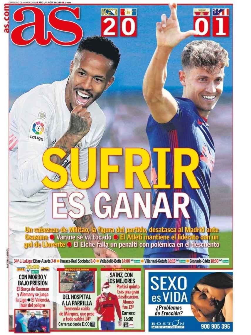 La portada del diario AS (02/05/2021)