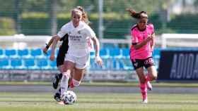 Kosovare Asllani, en el partido del Real Madrid Femenino ante el Sporting Huelva