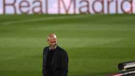 Zinedine Zidane, en el Alfredo Di Stéfano
