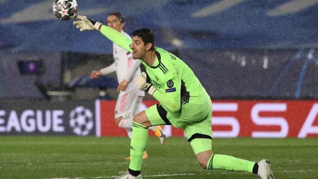 Thibaut Courtois, durante un partido del Real Madrid