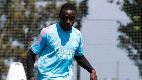 Ferland Mendy, durante un entrenamiento del Real Madrid