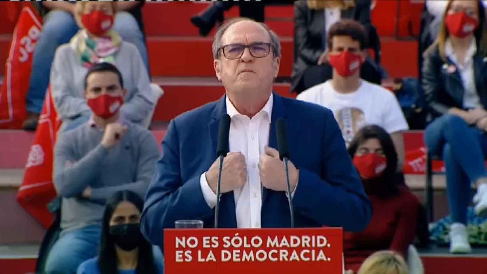 Gabilondo llama a combatir la crispación y el miedo con votos y esperanza