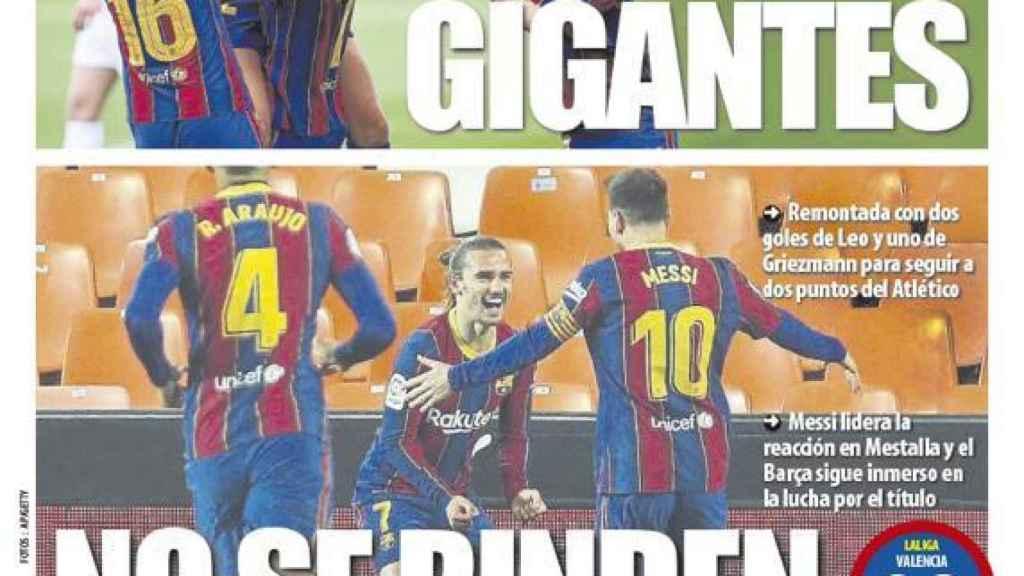 La portada del diario Mundo Deportivo (03/05/2021)