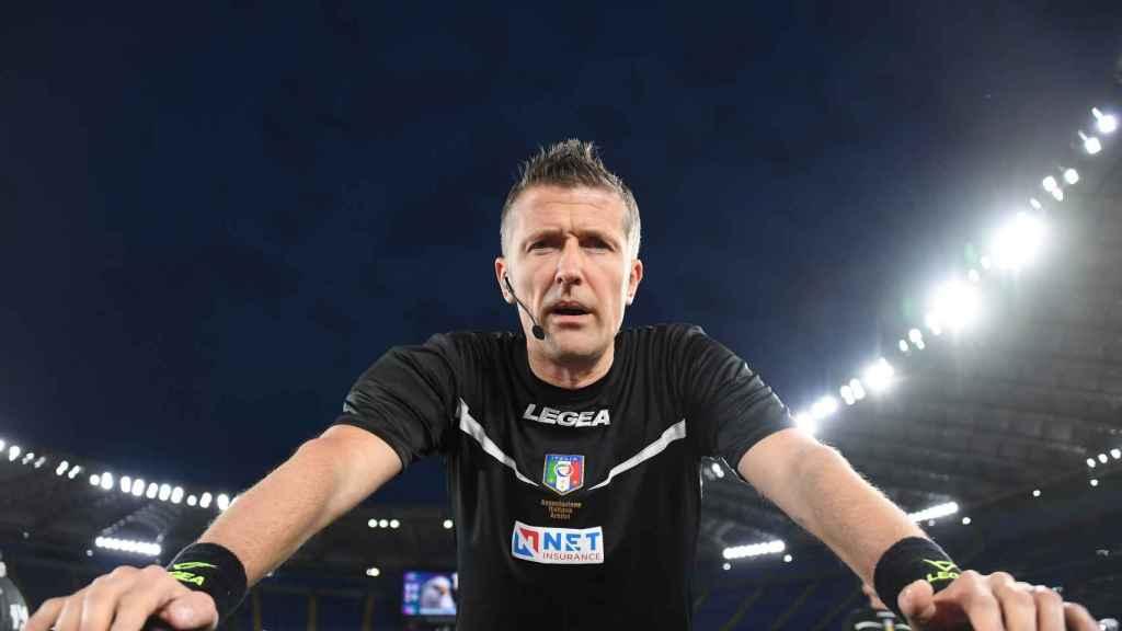 Daniele Orsato, durante un partido de la Serie A