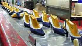 Imagen de una fábrica de calzado.