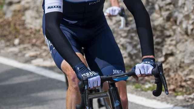 Froome sufriendo durante el Tour de Romandia 2021