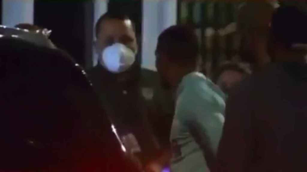 Momento de la detención de Félix Verdejo