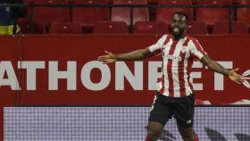 Iñaki Williams celebra su gol con el Athletic al Sevilla