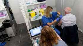 Uno de los 24 puntos de vacunación puestos en marcha por la Generalitat.
