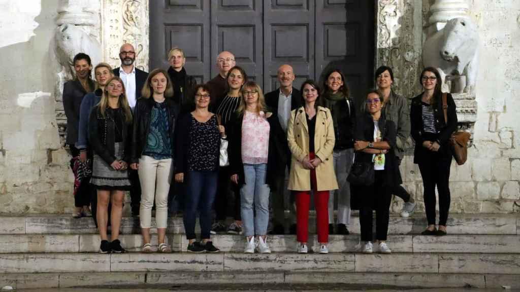 Los miembros de la red Passpartool el día de su creación, en 2019.