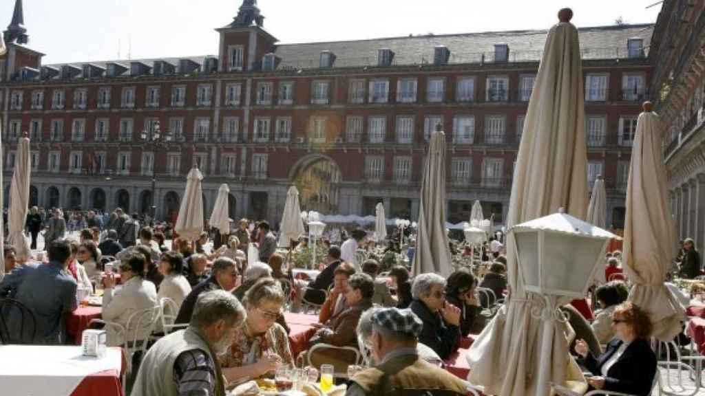 La Plaza Mayor de Madrid.