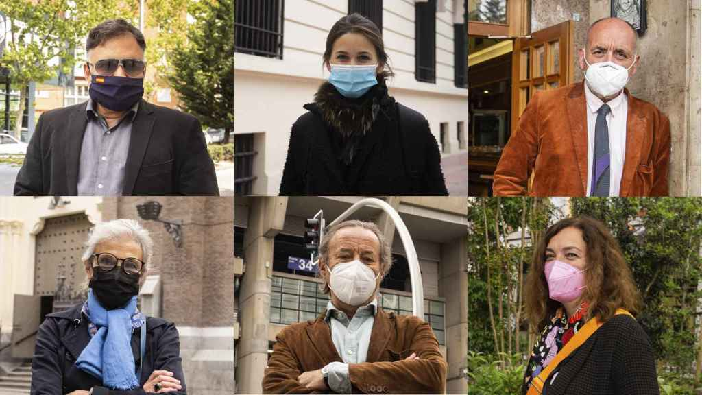 Seis de los vecinos que hablaron con EL ESPAÑOL sobre sus preferencias políticas.