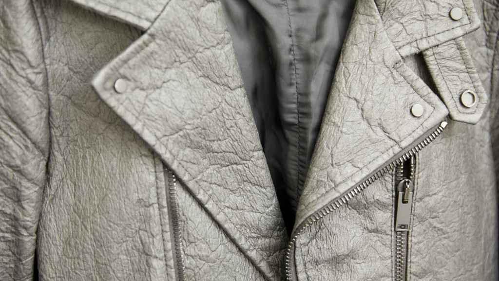 El 'cuero' producido a partir de hojas de piña. Foto: EPO