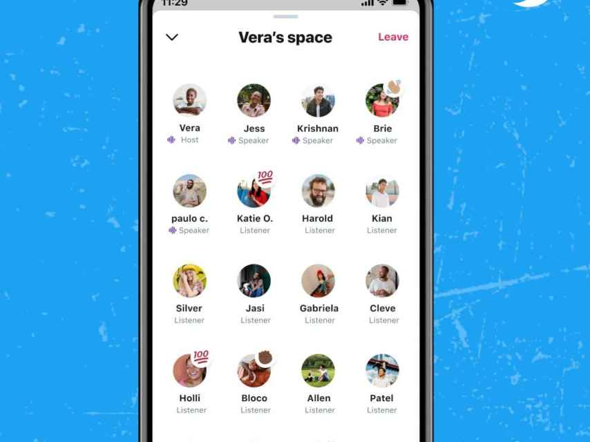Twitter Spaces interfaz