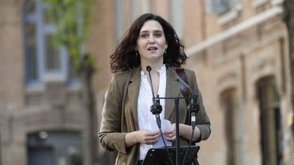 La candidata del Partido Popular, Isabel Díaz Ayuso.