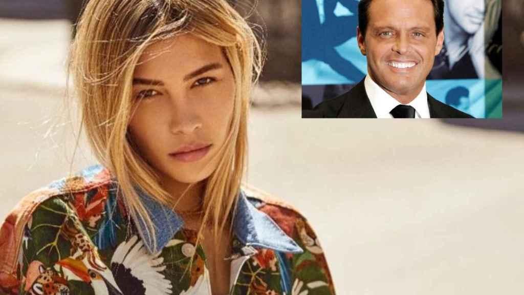 Michelle Salas, la hija de Luis Miguel, en montaje de JALEOS junto al cantante.