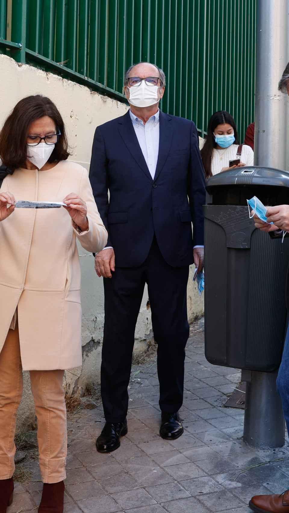 Ángel Gabilondo en las elecciones del 4-M.