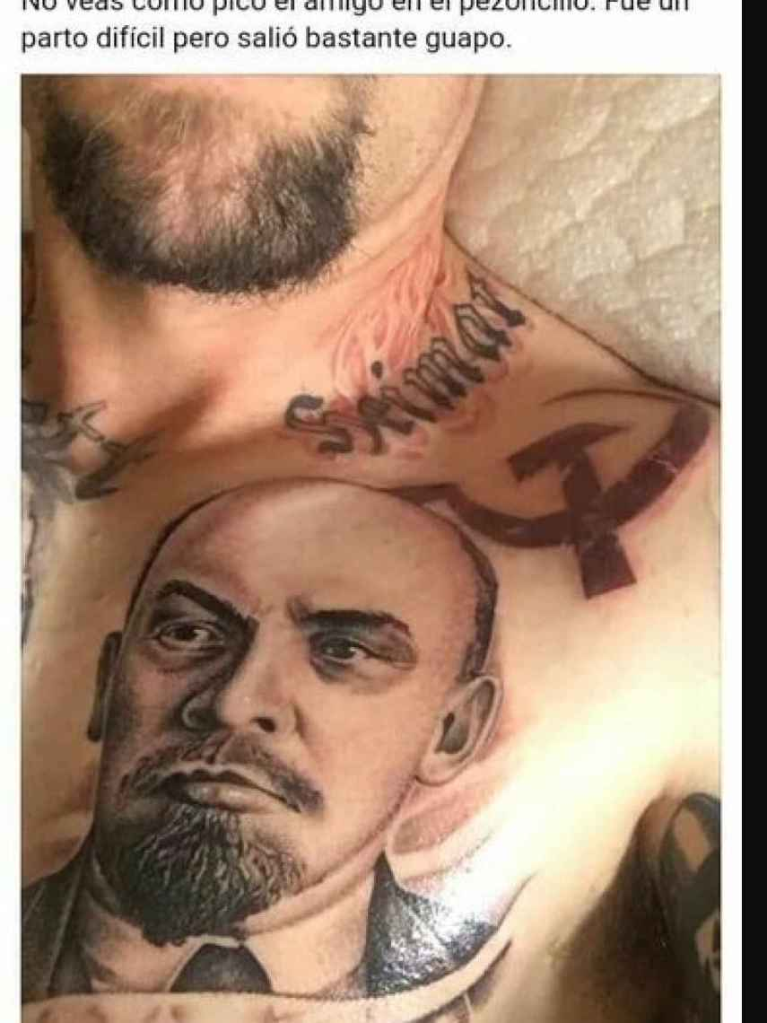 David Saavedra comparte sus tatuajes en una red social.