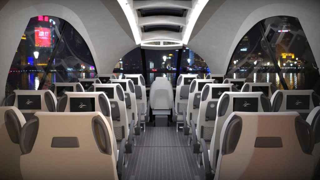 Interior con 20 asientos