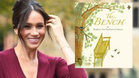 Meghan Markle en montaje de JALEOS junto a la portada del libro.