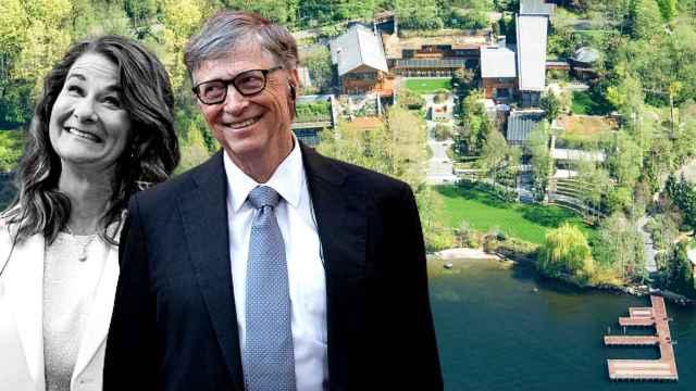 Bill Gates y Melinda en un montaje sobre la mansión que posee el magnate en Washington.
