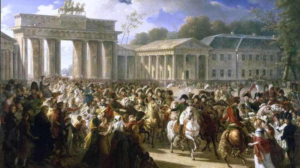 'Napoleón entrando en Berlín', por Charles Meynier.