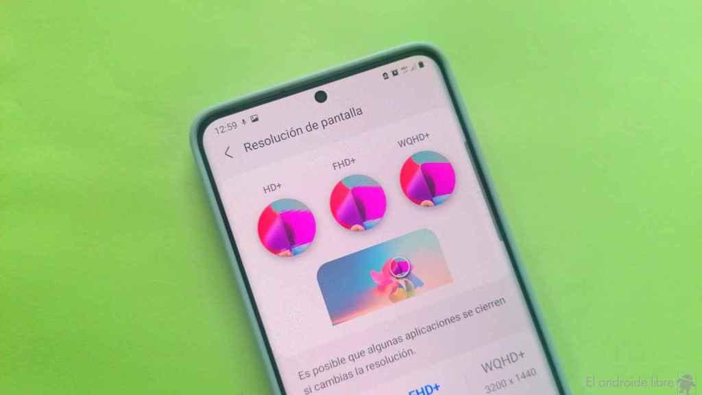Cómo cambiar la resolución de pantalla en tu móvil Samsung