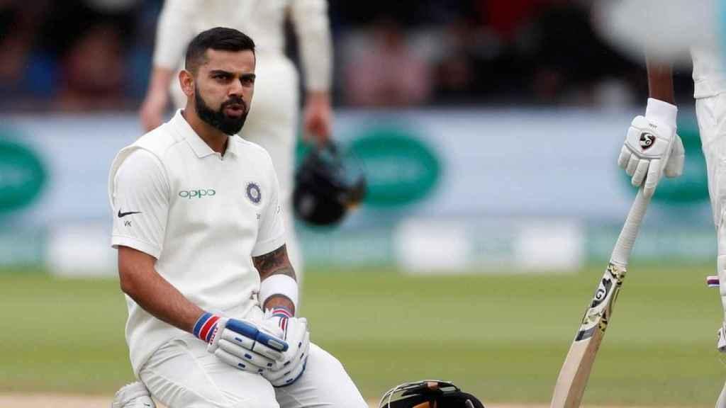 Virat Kohli, durante un partido de críquet
