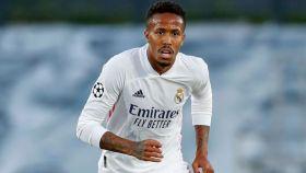 Militao, en un partido del Real Madrid