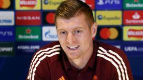 Toni Kroos, en rueda de prensa de la Champions League