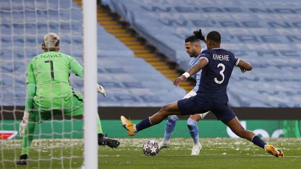 Gol de Riyad Mahrez para el Manchester City ante el PSG