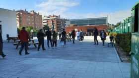 Colegio electoral de Valdemoro en Madrid pocos minutos después de las nueve de la mañana. Foto: El Digital CLM