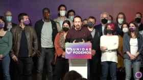 Comparecencia de Pablo Iglesias tras las elecciones de la Comunidad de Madrid.