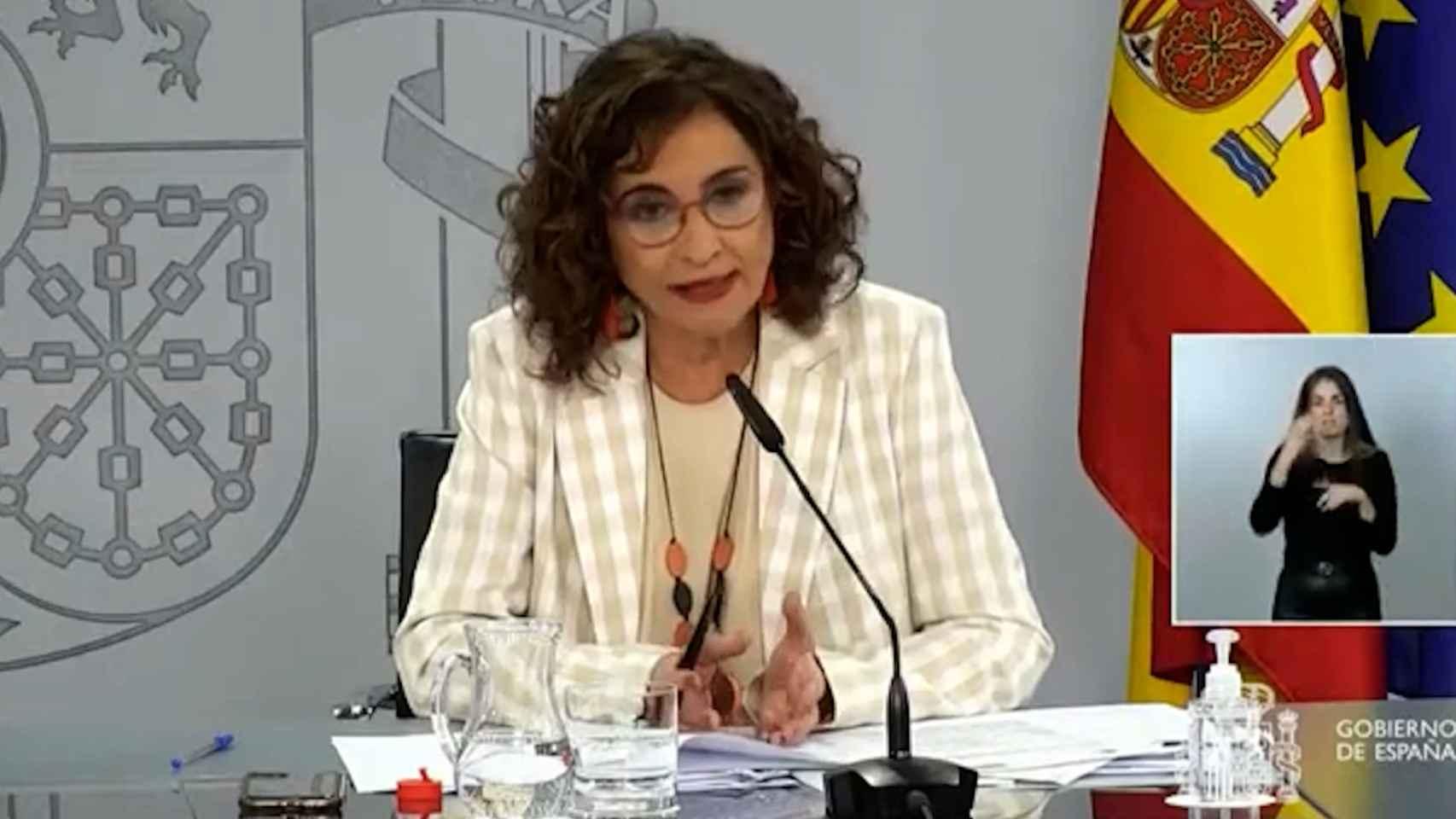 Montero dice ahora que el fin de la ayuda fiscal a matrimonios no está en el Plan de Recuperación